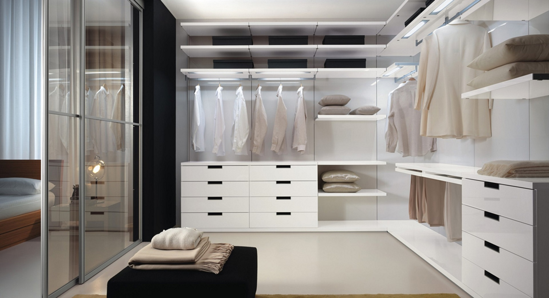 Extra cabin modern corner walk in closet for Cabina armadio low cost