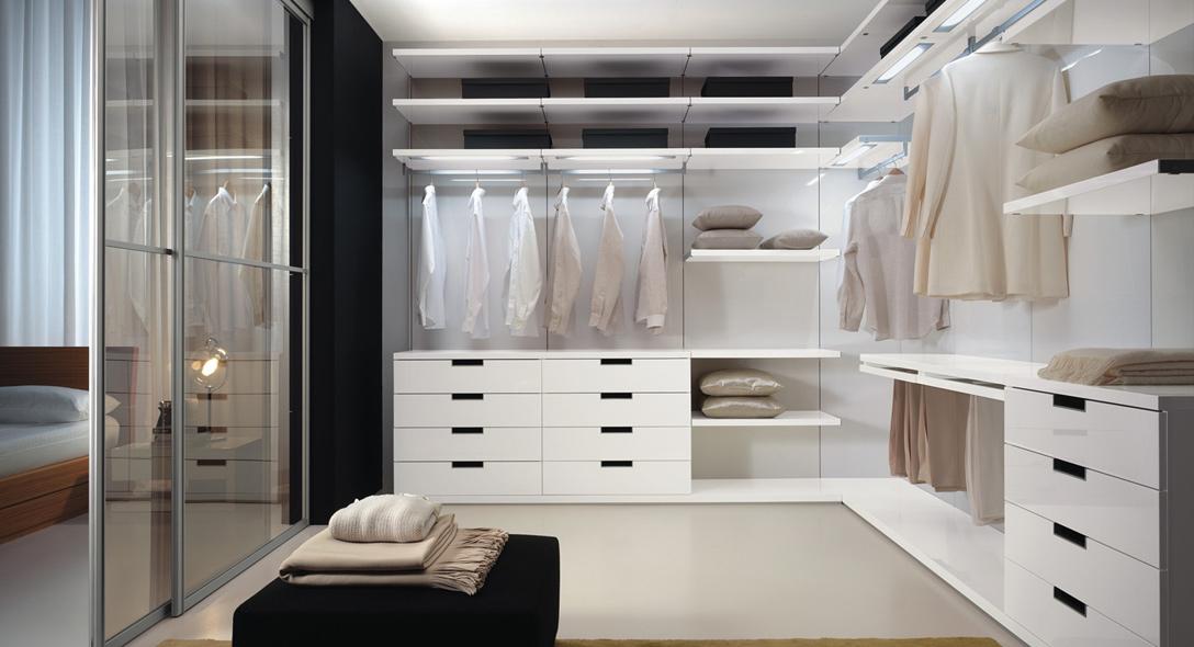 Armadi belligotti armadi e cabine armadio su misura - Camera da letto con cabina armadio ad angolo ...