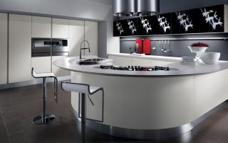 Cucina moderna_Maxima Round_composizione con penisola