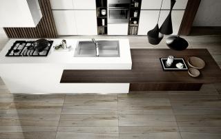 Cucina moderna_Mood-01 – dettaglio isola vista dall'alto