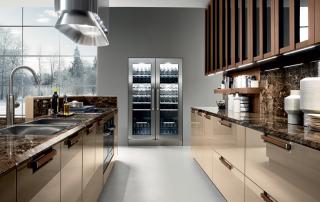 Cucina contemporane_Noisette_Room One_dettaglio volumi geometrici, massima semplicità superfici che valorizzano materiali e finiture