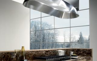 Cucina contemporanea_Noisette_Room One_dettaglio piano di lavoro e piano cottura