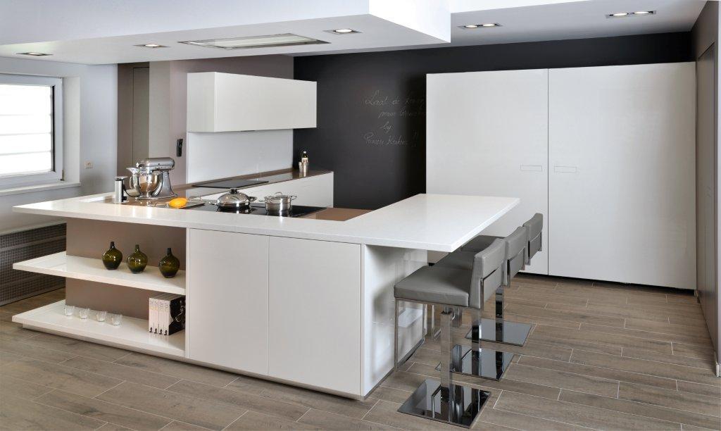 Touch Isola - Cucine moderne bianche per clienti