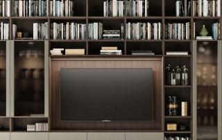Collezione living_Day System.02_dettaglio vano tv con illuminazione integrata a led