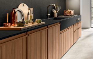 Cucina moderna_Pepper.03_dettaglio top in Laminam zona lavaggio/cottura