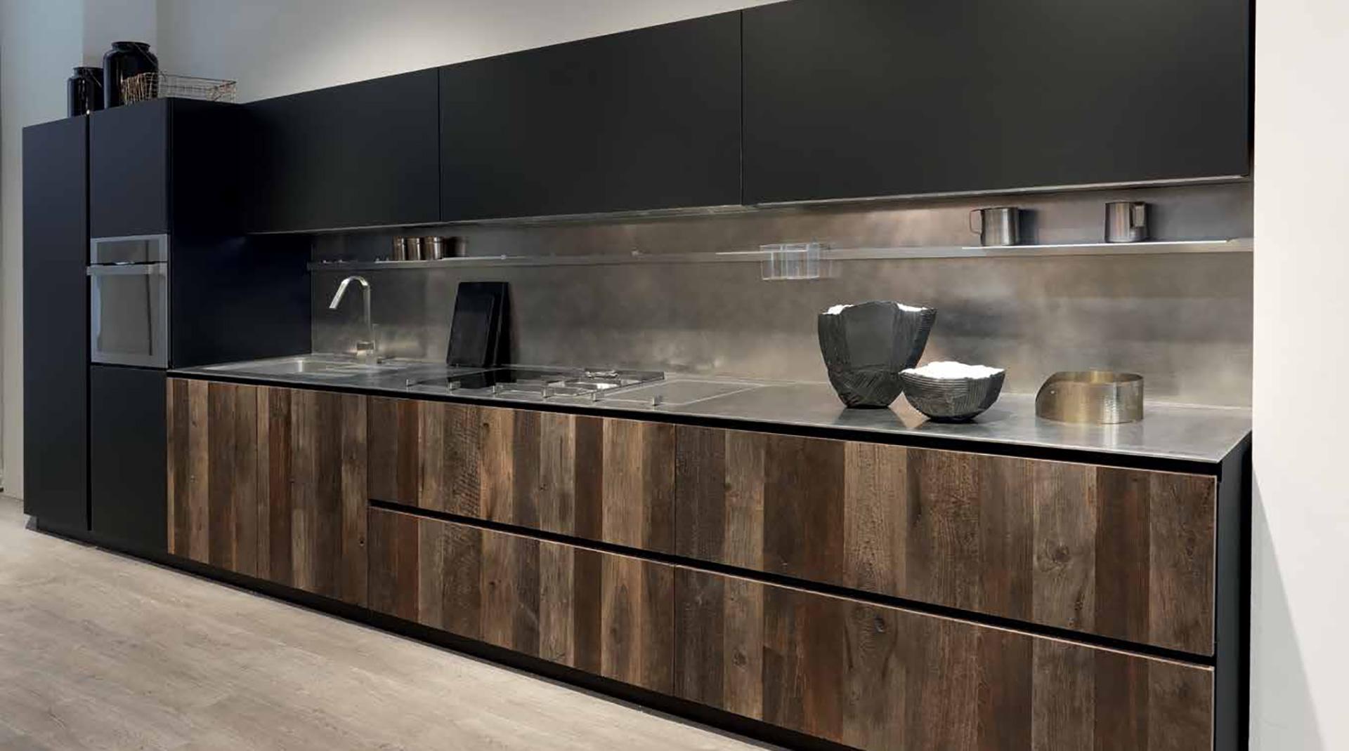 La cucina Composit lineare senza maniglie